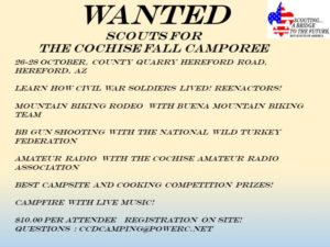 Cochise District Fall Camporee @ Cochise County Quarry | Hereford | Arizona | United States